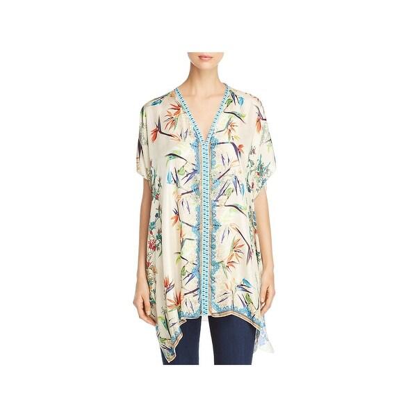 befe8f28174 Shop Johnny Was Womens Salinas Poncho Top Silk Printed - Free ...