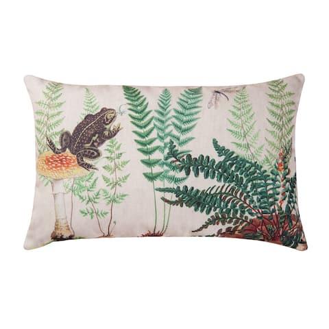 Fern & Frog HD Indoor/Outdoor 14x22 Throw Pillow