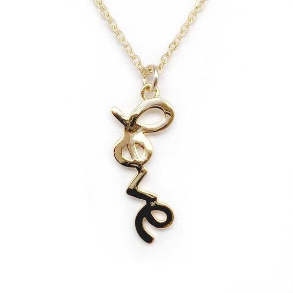 "Julieta Jewelry Love Gold Charm 16"" Necklace"