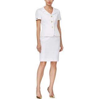 Tahari Womens Skirt Suit A-Line Textured