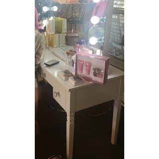 The Gray Barn Cami White 3-drawer Writing Desk
