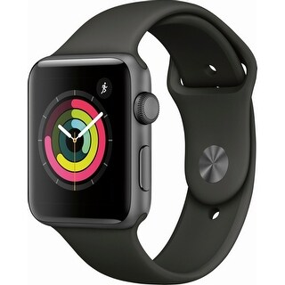 Apple Watch Series 3 (GPS), 42mm Space Gray Aluminum Case with Gray Sport Band - Space Gray Aluminum