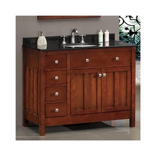 """Miseno MVAD42 42"""" Free Standing Vanity Set with Cabinet, Granite Vanity Top, Undermounted Sink and Widespread Faucet Holes"""