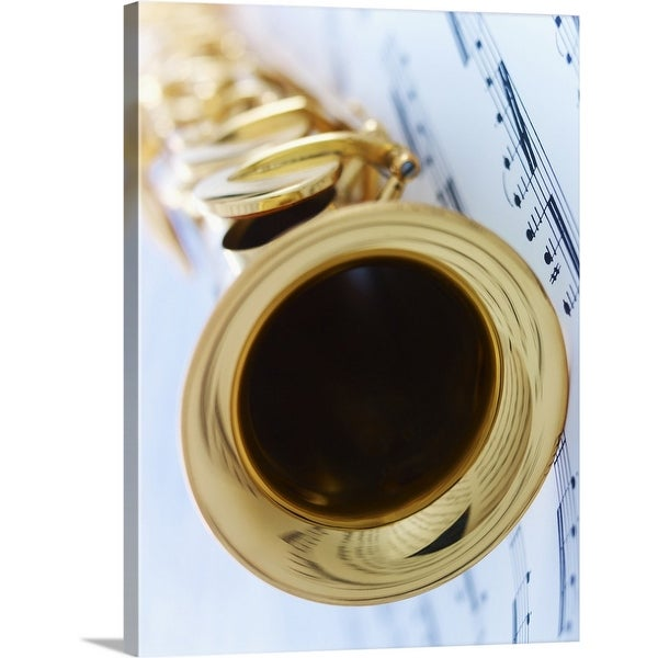 """""""Soprano Saxophone with Music Sheet"""" Canvas Wall Art"""