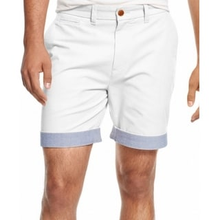 Tommy Hilfiger NEW White Snow Mens Size 42 Custom Fit Chinos Shorts