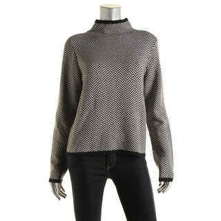 Lauren Ralph Lauren Womens Herringbone Long Sleeves Pullover Sweater