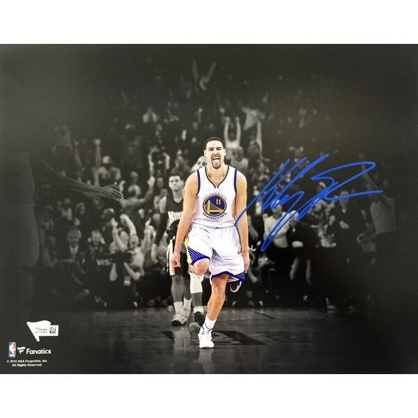 e22c6eb3f174e Shop Klay Thompson Signed 11x14 Golden State Warriors Spotlight ...