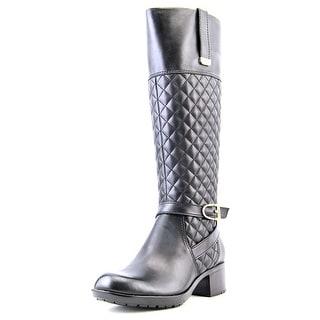 Bandolino Blushe Women Round Toe Leather Black Knee High Boot
