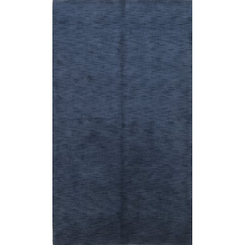 """Solid Gabbeh Oriental Wool Area Rug Hand-knotted Bedroom Carpet - 5'6"""" x 8'3"""""""