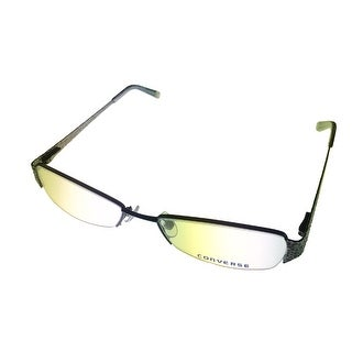 Converse Opthalmic Womens Eyeglass Modified Rimless Rectange Metal Mayhem Black - Medium