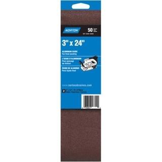 "Norton 02238 Sanding Belt Aluminum Oxide, 3"" x 24"""