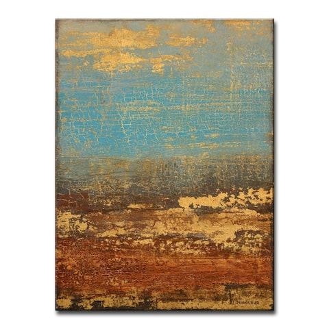 'Golden Stream' Wrapped Canvas Wall Art by Norman Wyatt Jr.