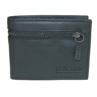 Kenneth Cole Men's Leather Slim Bifold Wallet with Exterior Zipper Pocket - One size