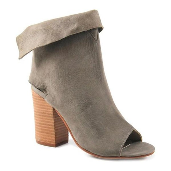 b5265353a47b Shop Diba True Women s Idaho City Open Toe Bootie Taupe Leather - Free  Shipping Today - Overstock.com - 21416704