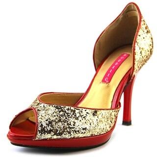 Bordello Storm Peep-Toe Synthetic Heels