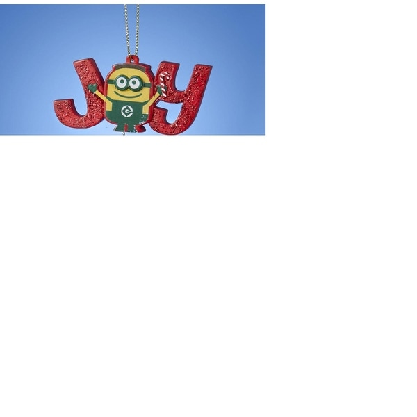 """3"""" Despicable Me Red and Yellow """"Joy"""" Layer Christmas Ornament"""