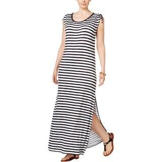 MICHAEL Michael Kors Womens Plus Tank Dress Striped Adjustable-Shoulder