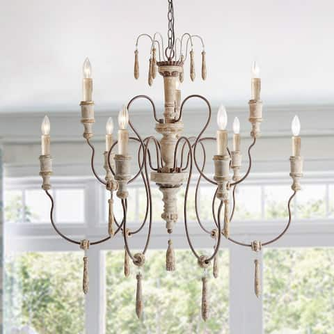 The Gray Barn Rocky Roost 8-light/5-light/6-light French Country Distressed Chandelier for Dining Room