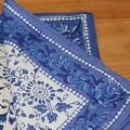 Handmade Floral Rajasthan Block Print Tablecloth 100% Cotton Rectangular Square Round Napkins - Thumbnail 7