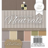 "Dcwv Single-Sided Cardstock Stack 6""X6"" 24/Pkg-Corrugated Neutrals"