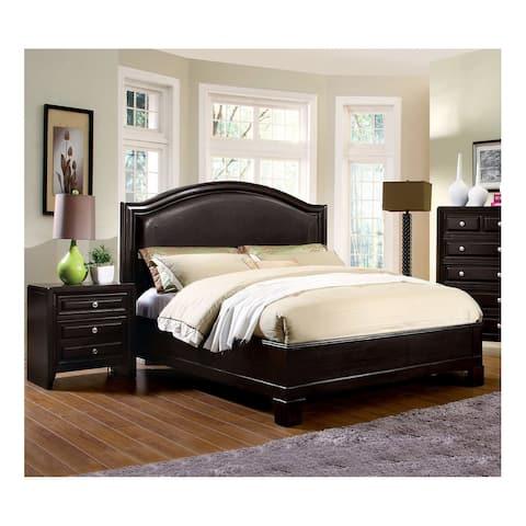 Furniture of America Peb Transitional Espresso 2-piece Bedroom Set