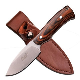 Master Cutlery Elk Ridge 7.5 Satin Fixed Blade-Dark Brown Pakkawood Handle - ER-551DW