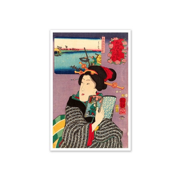 Landscapes and Beauties- Feeling Like Reading the Next Volume - Utagawa Kuniyoshi Fine Art Collections Matte Poster 16x24