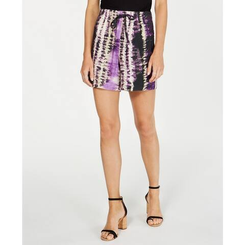INC International Concepts Women's Tie-Dyed Shorts Med Purple Size Extra Large - X-Large