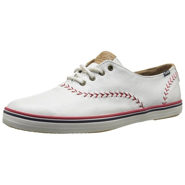 Keds Womens Champion Pennant Fabric Low Top Lace Up Fashion Sneakers