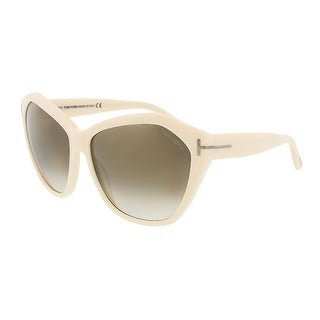 Tom Ford FT0317/S 25G Angelina Bone Oversized Sunglasses
