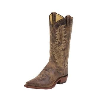 Tony Lama Western Boots Mens Saigets Worn Goat Pointed Toe Tan 6979