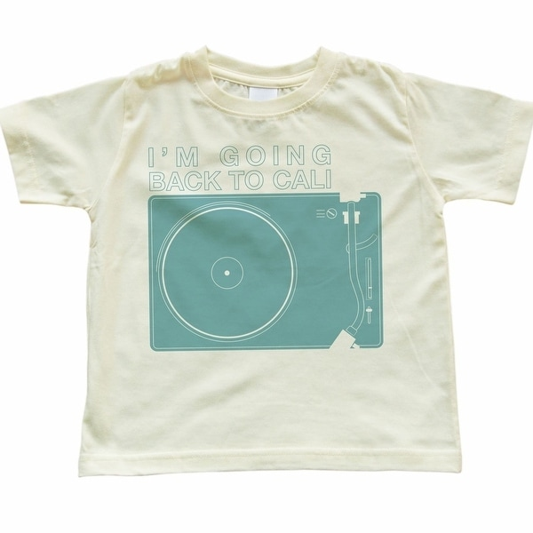 Toddler Clothing Retro Record Player I'm Going Back To Cali Light Yellow Toddler T-Shirt. Opens flyout.