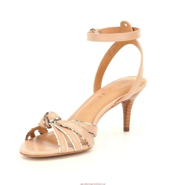 68b5dfbea0e364 Shop Coach Womens Meg Leather Open Toe Casual Ankle Strap Sandals ...
