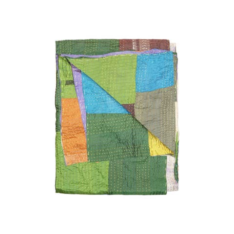 """HomeRoots 50"""" x 70"""" Silk Multicolor Throws"""