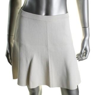 Suncoo Womens A-Line Skirt Textured Comfort Waist