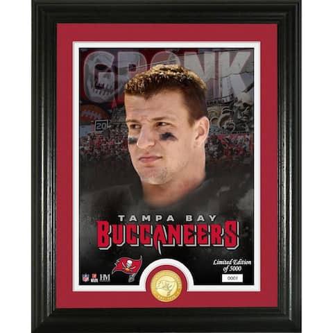 Rob Gronkowski Tampa Bay Bucs Bronze Photo