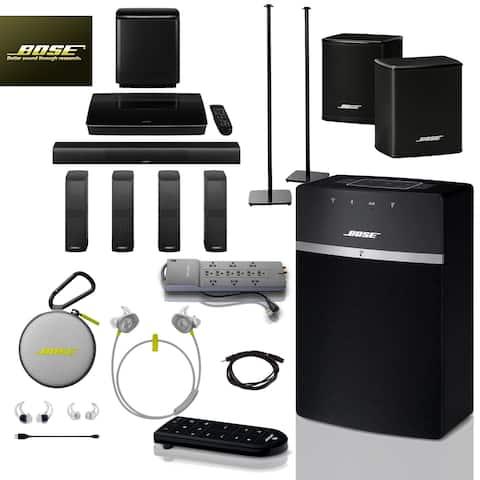 Bose SoundTouch 10 (Black) + Citron SoundSports + 5 pc Acc Bundle