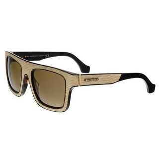 Balenciaga BA0010 47E Textured Beige and Tortoise Square Sunglasses