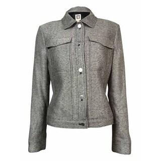 Anne Klein Women's Chest Pocket Woven Jacket - 2