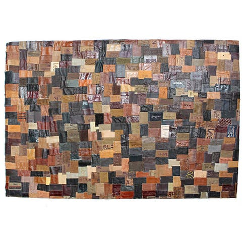 J&M Leather Labels Rug 36x48 - 36x48 inch
