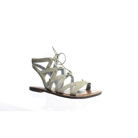 Sam Edelman Womens Gemma Gray Gladiators Size 6.5 (Wide)