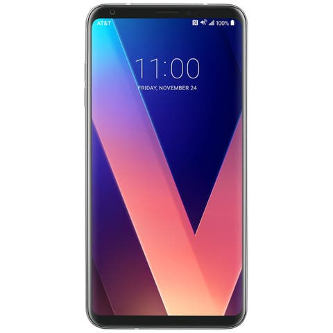 LG V30 H933 64GB Unlocked GSM 4G LTE Android Phone w/ Dual 16MP 13MP Camera - Cloud Silver (Certified Refurbished)