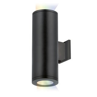 """WAC Lighting DS-WD05-SS-CC Tube Architectural ilumenight 2 Light 12-1/2"""" Tall Integrated LED Outdoor Wall Sconce with Spot Beam"""