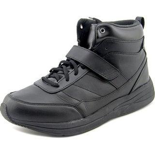 Drew Pulse Men Round Toe Leather Black Sneakers