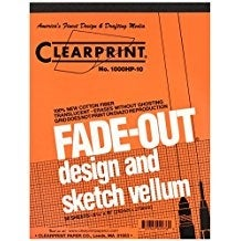 "Clearprint - Design and Sketch Pad - 10x10 Grid - 8.5"" x 11"""