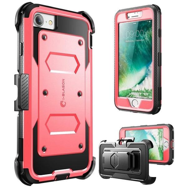 i-Blason-iPhone 7 Plus Case, [Armorbox]built in Bumper Case-Pink