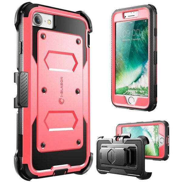 iPhone 7 Case,i-Blason [Armorbox Case] built in Screen Protector, Apple iPhone 7 (Pink)