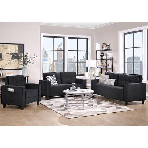Morden Style Couch Furniture Upholstered Armchair (1+2+3-Seat)