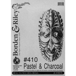 Borden & Riley Pastel & Charcoal Paper- Gray 9x12 Inch Pad