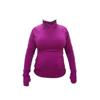 Champion GEAR Women's Compression Long-Sleeve Mock Neck Top - Raspberry